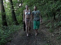 Fetish couple sex in fresh air